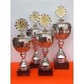 4er Serie Pokal auf Marmorsockel  inkl. Gravurschild