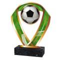 Fussball Figur aus Acrylglas gold, 3 verschiedene Größen, 6mm dick, inkl. Beschriftung