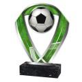 Fussball Figur aus Acrylglas silber, 3 verschiedene Größen, 6mm dick, inkl. Beschriftung