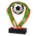 Fussball Figur aus Acrylglas rot, 3 verschiedene Größen, 6mm dick, inkl. Beschriftung
