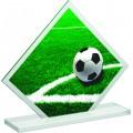 Fussball Figur aus Acrylglas in 2 verschiedenen Größen, 3mm dick, inkl. Beschriftung