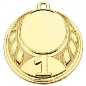 Medaille 45mm inkl. Emblem, Band und Beschriftung für Rückseite