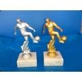 Fußball Figur montiert auf Marmorsockel 16,5cm inkl. Beschriftung